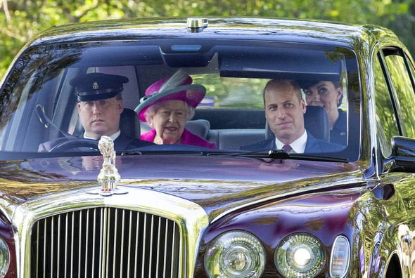 Kate and Prince William accompanying the Queen at Balmoral to church in 2019 (Image: GETTY)
